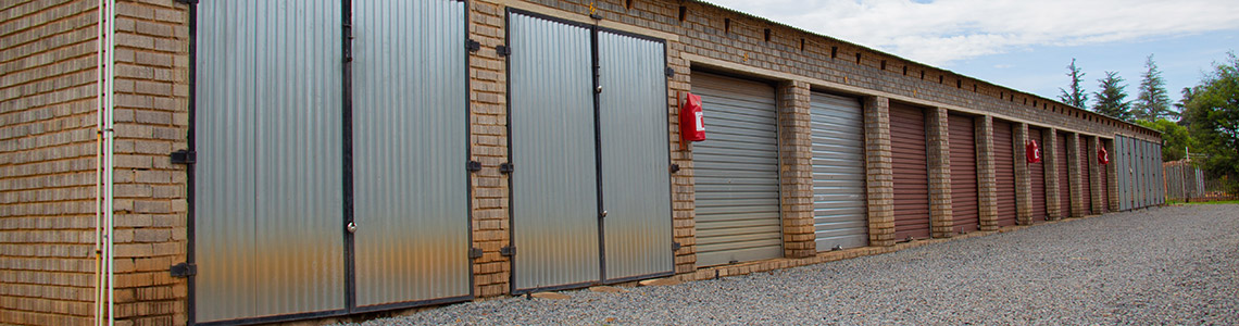 Garage block used as storage units